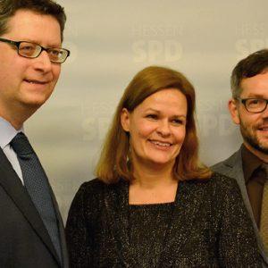 Nancy Faeser, Thorsten Schäfer-Gümbel, Michael Roth